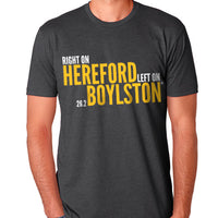 Right On Left On Men's Cotton T-Shirt - Charcoal/Gold