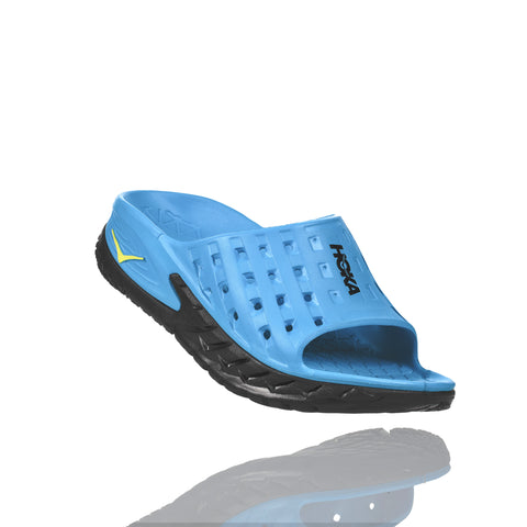 Hoka One One Men's Ora Recovery Slide - Black/Process Blue (1014864-BPSB)