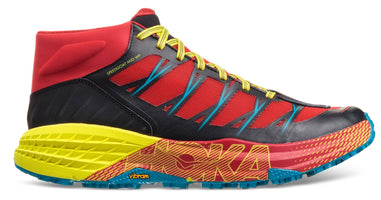 Men's Hoka Speedgoat Mid WP Running Shoe Chinese Red/Caribbean Sea 1093760-CRCNS