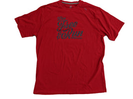 Runner's Alley Men's Live Free Short Sleeve Tee - True Red (TM110-651)