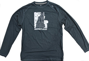Runner's Alley Men's Run New Hampshire Long Sleeve Tee - Gunmetal (TM310-066)