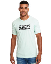 Runner's Alley Men's Maintain Your Distance Short Sleeve Tee - Mint (RA-MAIN-N6210-MINT)