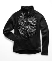 The North Face Women's Winter Warm 1/2 Zip Jacket - Black (NF0A3LLQJK3)