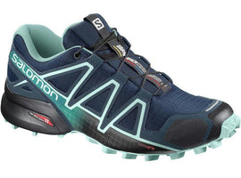 Salomon Women's Speedcross 4 - Poseidon/Eggshell Blue/Black (L40243100)