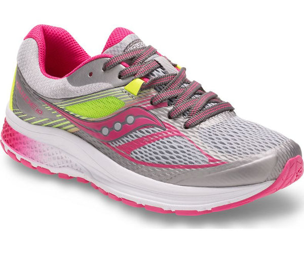 Saucony Girls Guide 10 - Gray/Pink (S14000-8)