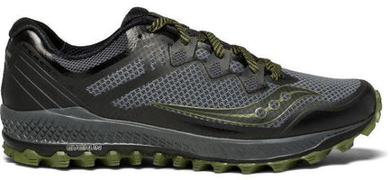 Saucony Men's Perigrine 8 - Grey/Black/Green (S20424-1)