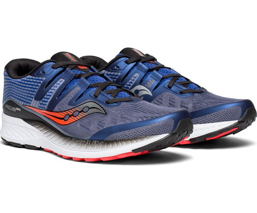 Saucony Men's Ride ISO - Grey/Blue/ViZiRed (S20444-3)
