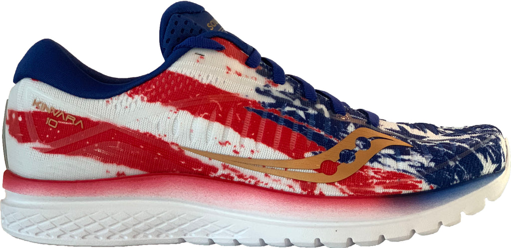 bbf6e768 Saucony Women's Kinvara 10 Old Glory Limited Edition - Red/White/Blue –  Marathon Sports