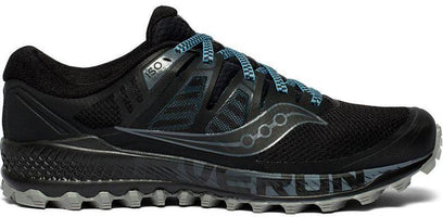 Men's Saucony Peregrine Iso Trail Running Shoe Black/Grey S20483-1