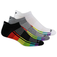 Saucony Inferno Ultralight No-Show 3 Pack Running Socks - Rainbow (S320002-905)