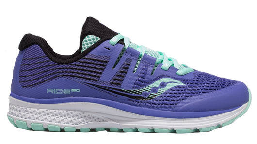 96555f5d48be Saucony Girl s Ride ISO - Violet Black Aqua (S21000-1) – Marathon Sports