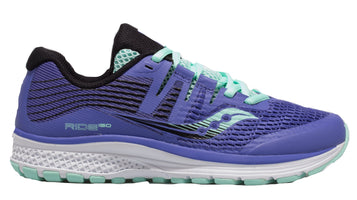 Saucony Girl's Ride ISO - Violet/Black/Aqua (S21000-1)