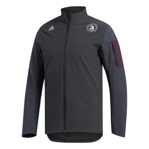 Adidas Men's Boston Marathon® 2018 B.A.A. Supernova Storm Jacket - Black (CW3581)