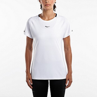 Saucony Women's UV Lite Short Sleeve Tee - White (SAW800249-WH) Front