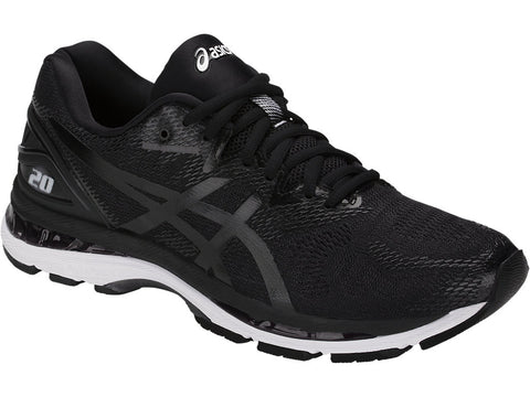 Asics Men's Gel-Nimbus 20 Wide (2E) - Black/White/Carbon (T801N.9001)