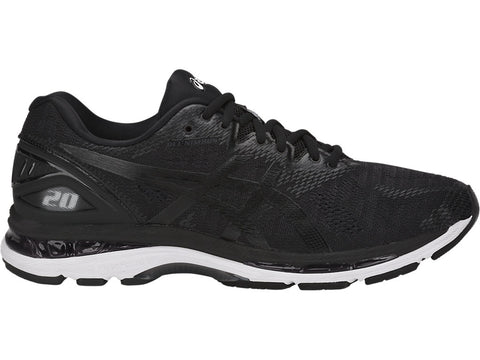 Asics Men's Nimbus 20 Wide (2E) - Black/White/Carbon (T801N.9001)