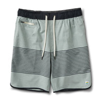 Vuori Men's Banks Short - Sea Glass Linen Texture Stripe (V330-SLS)