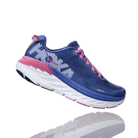 Hoka One One Women's Bondi 5 Wide (D) - Blueprint/Surf The Web (1016605-BSTW)