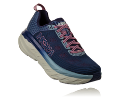 Hoka One One Women's Bondi 6 Wide (D) - Marlin/Blue Ribbon (1019272-MBRB)