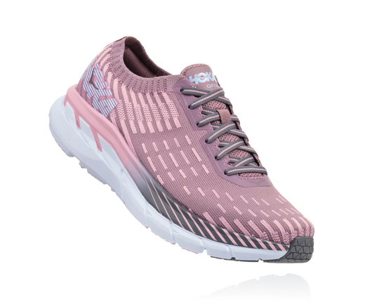 Hoka One One Women's Clifton 5 Knit - Cameo/Pink Toadstool (1094310-CPTT)