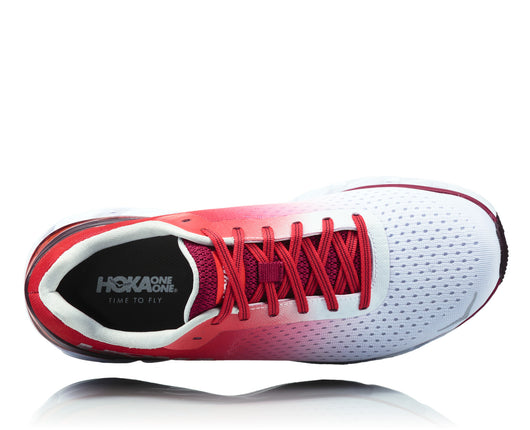 Hoka One One Women's Elevon - White/Cherries Jubilee (1019268-WCJB)