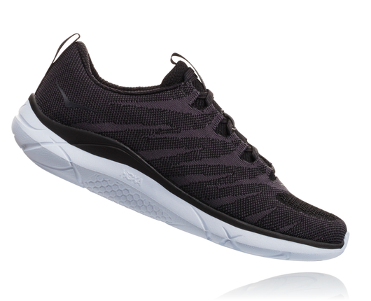Hoka One One Women's Hupana Knit Jacquard - Black/White (1093791-BWHT)