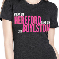 Right On Left On Women's Cotton T-Shirt - Black/Pink