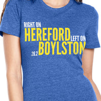 Right On Left On Women's Cotton T-Shirt Royal/Yellow