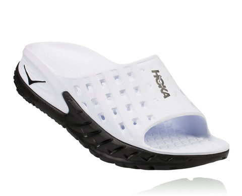 Hoka One One Men's Ora Recovery Slide - Black/White (1014864-BWHT)