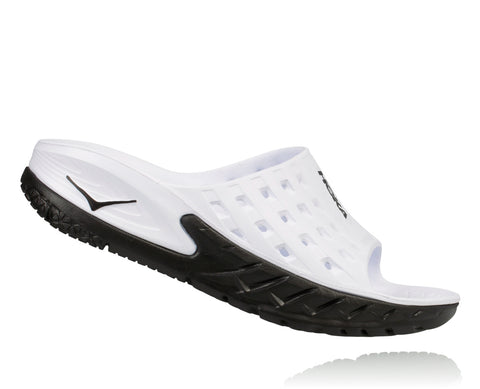 Hoka One One Women's Ora Recovery Slide - Black/White (1014865-BWHT)