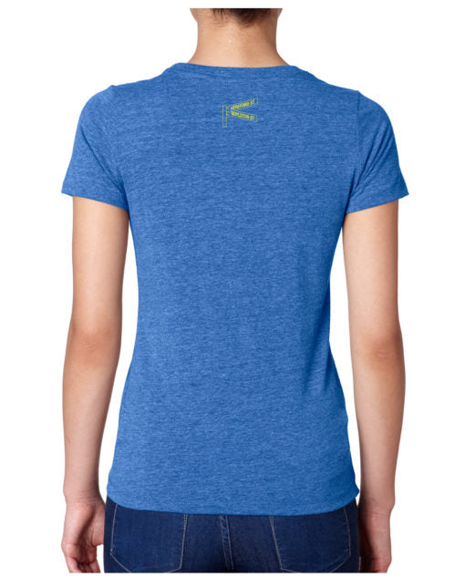 I Swam The 2018 Boston Marathon Women's Tee - Blue (I SWAM TEE)