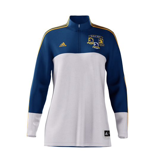 Women's B.A.A. Distance Medley Half Zip - Blue/Yellow (DMHALFZIPW)