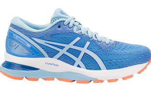 Women's Asics Gel-Nimbus 21 Running Shoe Blue Coast/Skylight 1012A155.400