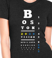 Right On Left On Women's Boston 2020 T-Shirt - Charcoal (W-BOSTON2020)
