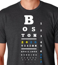 Right On Left On Men's Boston 2020 T-Shirt - Charcoal (M-BOSTON2020)