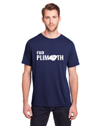 Men's Run Plimoth Tech Tee - TS-RUNPLI-CE111N - NAVY