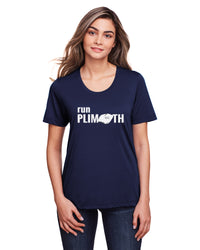 Women's Run Plimoth Tech Tee TS-RUNPLI-CE111WN - NAVY