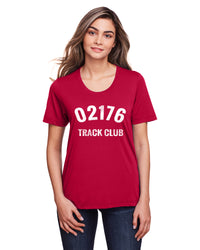 Women's 02176 Track Club Tech Tee - Classic Red