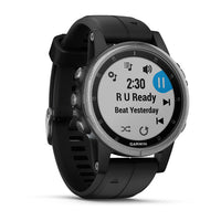Garmin Fenix 5S Plus - Silver/Black (010-01987-20)