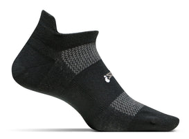 Feetures! High Performance Ultra Light No-Show Tab Running Socks - Black (FA5501)
