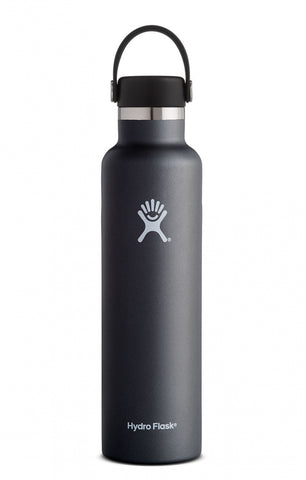 Hydro Flask 24 oz Standard Mouth Stainless Steel Water Bottle - Black Butte (S24SX001)