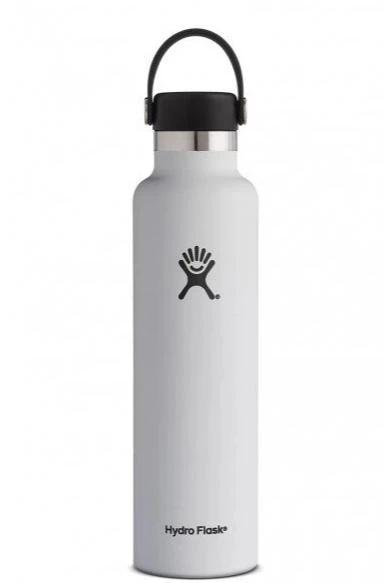 Hydro Flask 24 oz Standard Mouth Stainless Steel Water Bottle - White (S24SX110)