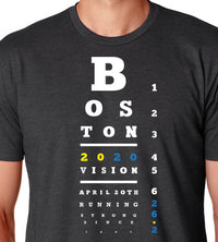 Right On Left On Men's Boston 2020 Unicorn T-Shirt - Charcoal (M-BOSTON2020-UNICORN)
