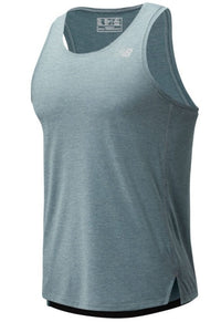 New Balance Men's Impact Run Singlet - Light Slate (MT01232-LST) Front