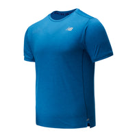 New Balance Men's Impact Short Sleeve Shirt - Mako Blue (MT01234-MB2)
