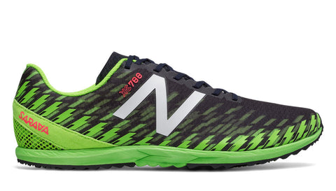 New Balance Men's XC 700 V5 Flat - Thunder/Energy Lime (MXCR700F D)