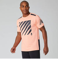 New Balance Men's printed Velocity SS - Ginger Pink (MT01224-GPK)