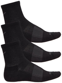 Saucony Inferno 1/4 Wool Blend 3pk Running Socks  - Black (S35002-001)
