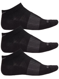 Saucony Inferno Wool Low Cut 3-Pack Running Socks - Black/Grey (S32023-001)