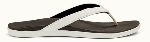 OluKai Women's HO'OPIO White/Black - (20294-4R40)